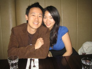 Hong Yi and I at a Thai restaurant (can\'t remember the name)