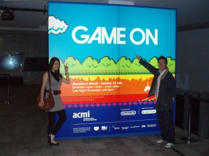 Hong Yi and I at ACMI Video Games Exhibition